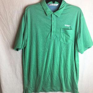 Travis Mathew Mens Polo Shirt Large Green Golf